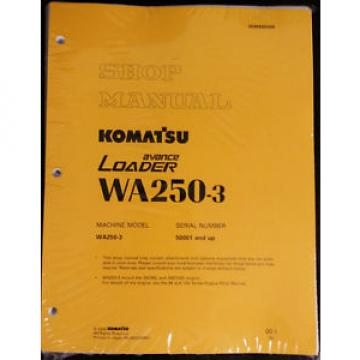 Komatsu Niger  WA250-3 Wheel Loader Service Shop Manual #1