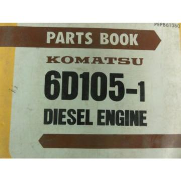 Komatsu Samoa Eastern  6D105-1 Diesel Engine Parts Book