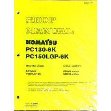 Komatsu Costa Rica  Service PC150LGP-6K, PC130-6K Shop Manual NEW