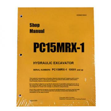 Komatsu Liberia  Service PC15MRX-1 Shop Manual Book NEW