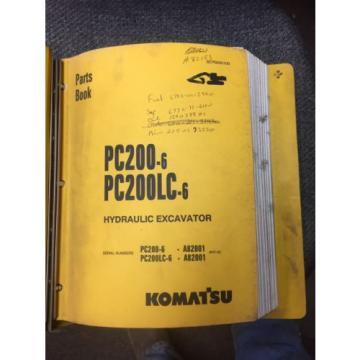 Komatsu Fiji PC200-6 Parts Manual