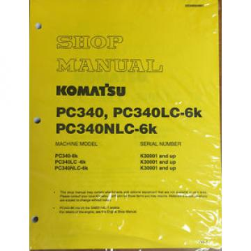 Komatsu United States of America  PC340-6K, PC340LC-6K, PC340NLC-6K Hydraulic Excavator Shop Manual