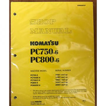 Komatsu Bahamas  PC750-6/LC/SE-6, PC800-6 PC800SE-6 Excavator Service Shop Repair Manual