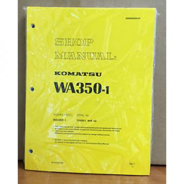 Komatsu Gibraltar  WA350-1 Wheel Loader Shop Service Repair Manual