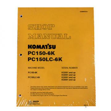 Komatsu Costa Rica  Service PC150-6K Shop Repair Manual NEW