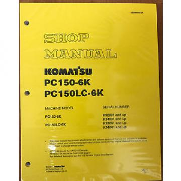 Komatsu Suriname  Service PC150-6K Shop Repair Manual NEW