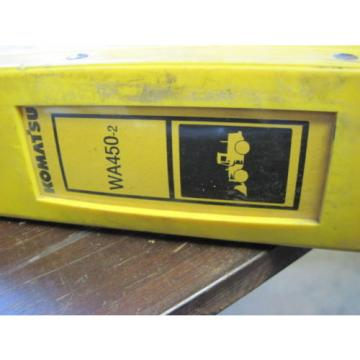 Komatsu Cuinea  OEM WA450-2 SHOP REPAIR SERVICE Manual Book