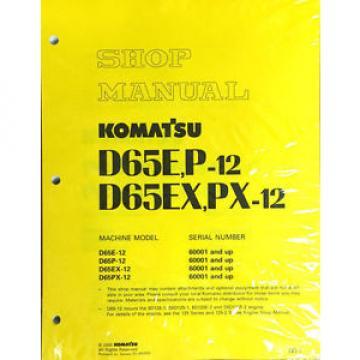 Komatsu Cuba D65E/P-12, D65EX/PX-12 Dozer Bulldozer Service Shop Repair Manual