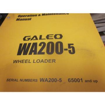 Komatsu Swaziland WA200-5 Wheel Loader Operation & Maintenance Manual