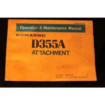 Komatsu Swaziland  attachment book shop Manual Catalog dozer crawler D355A