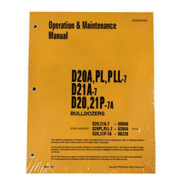 Komatsu Botswana  D20A,PL,PLL Dozer Operation & Maintenance Manual