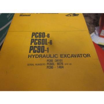 Komatsu Russia PC60-6 PC60L-6 PC90-1 Hydraulic Excavator Operation & Maintenance Manual