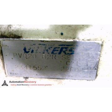 VICKERS Ethiopia PV020 B2R SE1S 21 C21 12, HYDRAULIC AXIAL PISTON PUMP, 3000PSI #215430