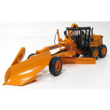 First Liechtenstein  Gear Komatsu GD655 Motor Grader w/V-Plow & Wing D.O.T. orange 1:50 Scale