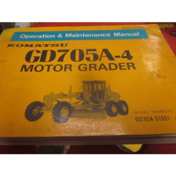 Komatsu Slovenia  GD705A-4 Motor Grader Operation & Maintenance Manual
