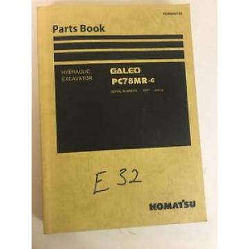 Komatsu Gambia  Galeo PC78MR-6 Hydraulic Excavator Parts Manual Book Catalog