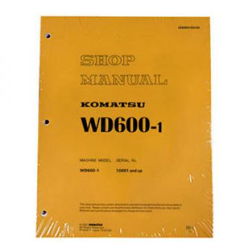 Komatsu Rep.  Service WD600-1 Series Wheel Dozer Shop Manual