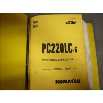 Komatsu Oman  Parts Book PC220LC-6 Hydraulic Excavator