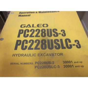 Komatsu Malta  PC228US-3 PC228USLC-3 Excavator Operation & Maintenance Manual 2004