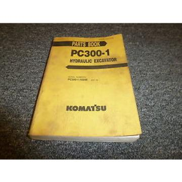 KOMATSU Moldova, Republic of  PC300-1 Hydraulic Excavator Parts Catalog Manual S/N PC300-1:10290 & Up