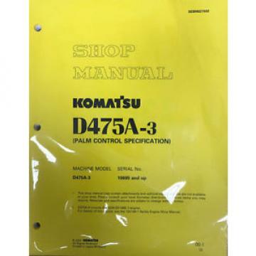 Komatsu SolomonIs D475A-3 Service Repair Workshop Printed Manual