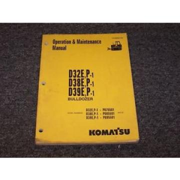 Komatsu Haiti  D39E-1 D39P-1 Bulldozer Dozer Crawler Owner Operator Maintenance Manual