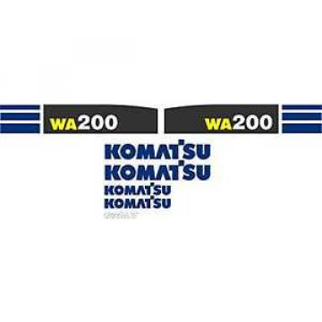 Komatsu Liberia  Wheel Loader WA200 - Decal Graphics Set