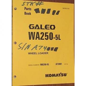 PARTS Suriname MANUAL FOR WA250-5L SERIAL A73000 KOMATSU WHEEL LOADER