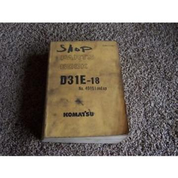 Komatsu Andorra D31E-18 40001-1 Factory Original Parts Catalog Manual