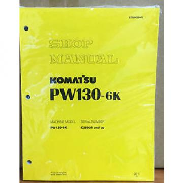 Komatsu Rep.  Service PW130-6K Excavator Shop Manual NEW REPAIR