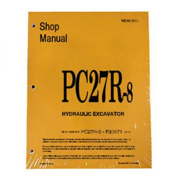 Komatsu Uruguay  Service PC27R-8 Excavator Shop Manual NEW #2