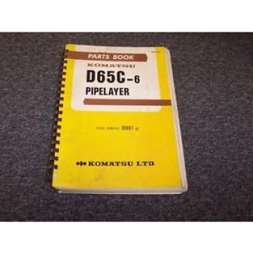 Komatsu Luxembourg  D655C-6 Pipelayer Original Factory Parts Catalog Manual Guide 30001-UP