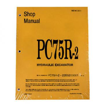 Komatsu Niger  Service PC75R-2 Excavator Shop Manual NEW #2
