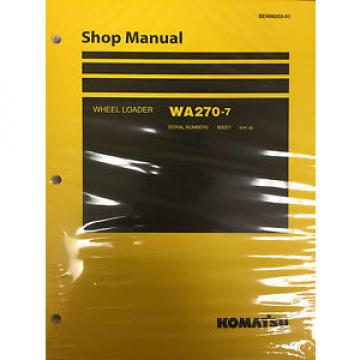 Komatsu Ethiopia  WA270-7 Wheel Loader Shop Service Repair Manual 80001 and UP