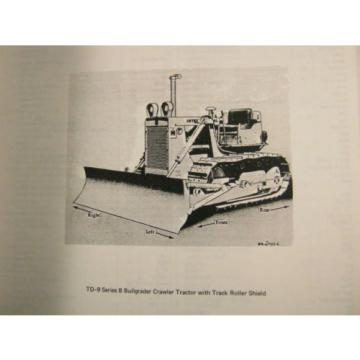 KOMATSU Rep.  DRESSER TD-9 SERIES B CRAWLER TRACTOR BULLDOZER PARTS BOOK MANUAL 1974