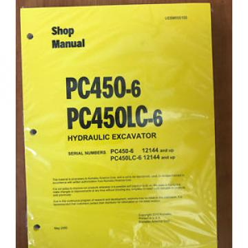 Komatsu Brazil  PC450-6, PC450LC-6 Service Repair Printed Manual 12144 AND UP
