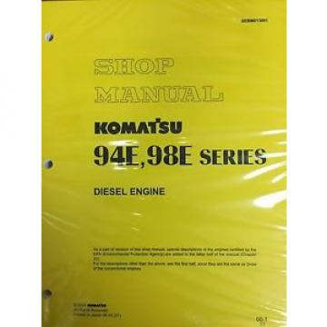 Komatsu Suriname  94E 98E Series Engine Factory Shop Service Repair Manual