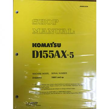 Komatsu Samoa Western  D155AX-5 w/ 6D140E-3 Engine Service Repair Printed Manual