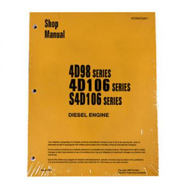 Komatsu Andorra  Service Engines 4D98/4D106/S4D106 Yanmar Printed Manual