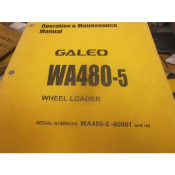 Komatsu Solomon Is  WA480-5 Wheel Loader Operation & Maintenance Manual S/N 80001 & Up