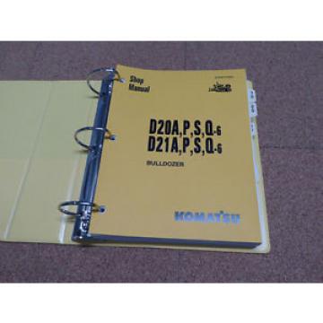 Komatsu Iran D20/A/P/S/Q-6, D21A/P/S/Q-6 Dozer Service Shop Repair Manual