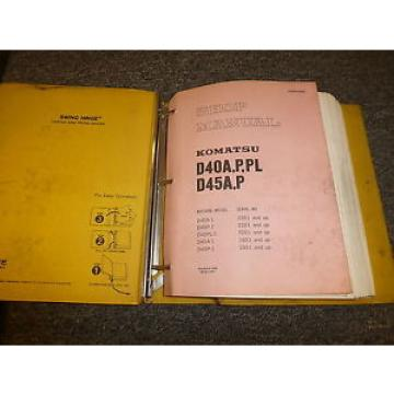 Komatsu Mauritius  D45A-1 D45P-1 Bulldozer Dozer Shovel Shop Service Repair Manual 1801-Up