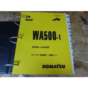 Komatsu Cuba  WA500-1 Wheel Loader Shop Service Manual