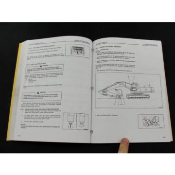 Komatsu Barbuda  excavator operators owner users manual PC300LC-6 PC300HD-6 CEAM3006C1