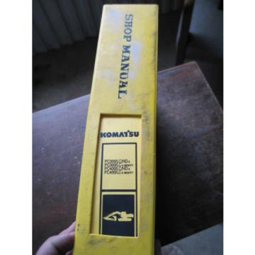 OEM Laos  Komatsu PC300 LC-5 PC400 LC-5 SHOP SERVICE REPAIR Manual Book