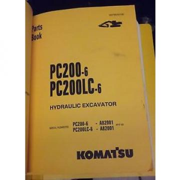 PARTS Andorra  MANUAL FOR PC200LC-6 SERIAL A82001 AND UP KOMATSU CRAWLER EXCAVATOR