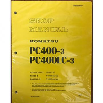 KOMATSU Hongkong  PC400-3 Excavator Crawler Shop Repair Manual Guide Book OEM Owners