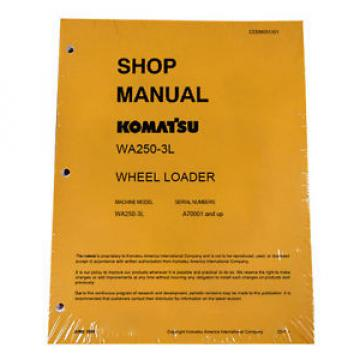 Komatsu Honduras  WA250-3L Wheel Loader Service Shop Manual