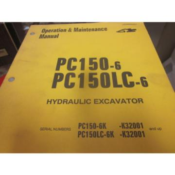 Komatsu Solomon Is  PC150-6 PC150LC-6 Hydraulic Excavator Operation & Maintenance Manual