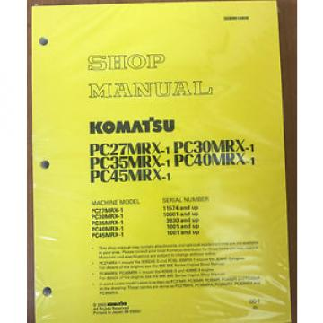 Komatsu SamoaEastern Service PC27MRX-1, PC30MRX-1, PC35MRX-1 Manual